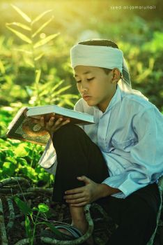 reading quran by Yed82