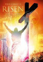 JESUS CHRIST IS RISEN Christian religious posters by davidsorensen