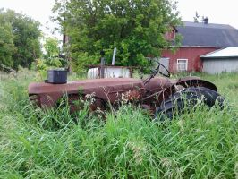 tractor swallowed up by the grass by kyupol