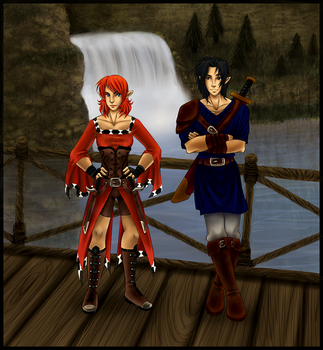 Commission: Kay and Vanguard by xx--ingie--xx