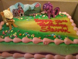 Pony Birthday Cake: Front View by RoyGBiv-MLP