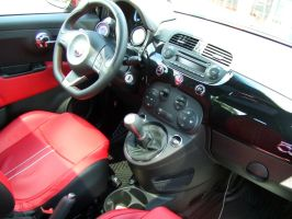 2012 Fiat 500 Abarth Edition inside by PaulRokicki