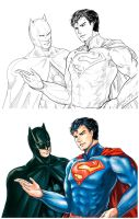 DCnU : Batman and Superman by noei1984