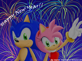 HAPPY NEW YEAR -:SONAMY LOVE:- by amyrose7