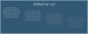 Indeed we cry by Liefesa
