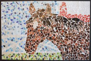 Horse Mosaic by Asymmetricalsoul