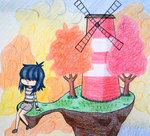 Chibi Noodle and her little paradise by Zivichi
