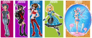 Art Progression from 05-09 by Annortha