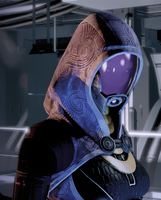 Thinking Tali'Zorah revised by Namz89