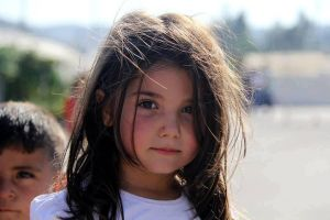Little Syrian Girl with eyes full of confidence by promise2smile4ever