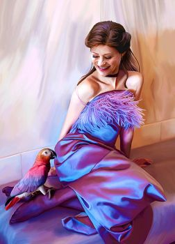 Emilie and the Parrot by LicieOIC