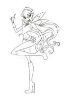 Winx Club Charmix Stella coloring page by winxmagic237