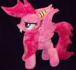 SOLD  PinkieBat Plush By Ponypassions by ponypassions