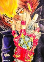 Tsuna ( katekyo hitman reborn) Drawing - Anime# 16 by um-dragao-por-dia