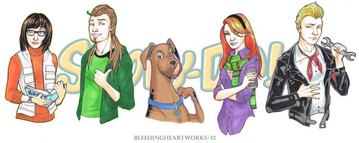Scooby Doo: Four Kids and a Dog by BleedingHeartworks