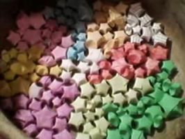 Colourful origami Stars by JenniMGF
