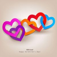 Happy Valentines Day Love Vector Graphics by FreeIconsFinder