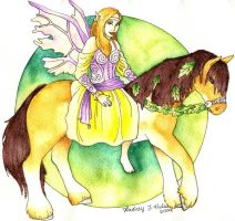 Faerie on horse by Audriana