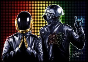 Wall of Fame No2 - Daft Punk by ArtOfAProcrastinator