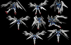 Lego Wing Gundam Zero EW(Custom) :Twin Buster by mithrylaltaire