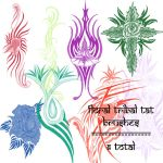 floral tribal brushes by rL-Brushes
