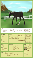 4840 TFR Love And Lies by TsonianFieldsRanch