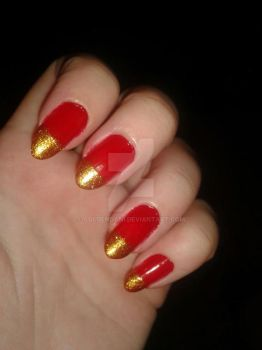 Sparkle Tip Nails by GoldenDani