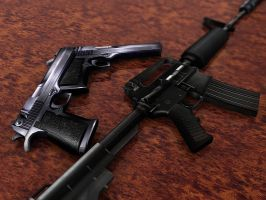 Guns by Flame-X