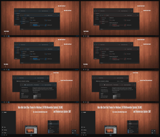 Max Mix Dark Bue and Red Theme For Windows 10 by Cleodesktop