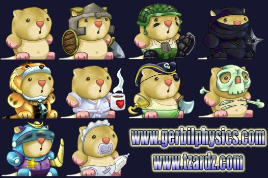 Gerbil Physics 2 Mascots by whodagoose