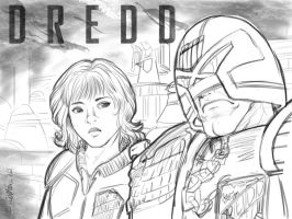 2012 :: Dredd sketch by PinkAppleJam