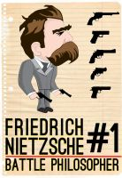 Friedrich Nietzsche : Battle Philosopher #1 by daverazordesign