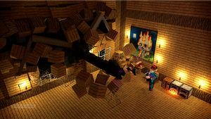 The Gang Get Attacked By The ENDERDRAGON by Sonicking9