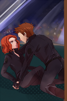 Hawkeye and Black Widow by mint0729