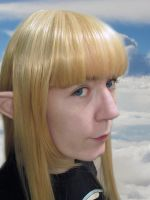 Skyloft Zelda - Wig styling and CG fun by Sarinilli