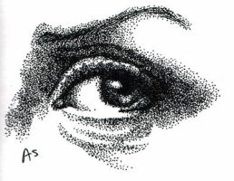 Stippling and Eye Practice 1 by penut-butter-goddess