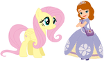 Princess Sofia and Fluttershy by user15432