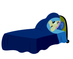 Fluttershy hiding under the cover by PonyHD