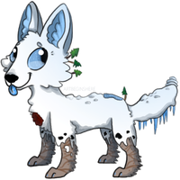Little Snow Pup by ArtBeginsHere