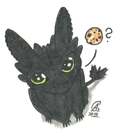 HTTYD- What happend to my cookies, Toothless?! by spiritdaughter