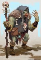 Orc Shaman by Mancomb-Seepwood