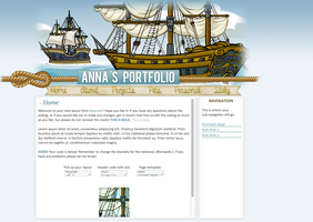 Layout Request: Anna's Portfolio by littleplasticrose