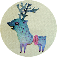 Blue deer by V-L-A-D-I-M-I-R