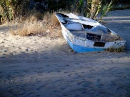 beached boat by dannishez