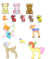 Leftover Adoptable Batch [OPEN] CHEAP by archae0pteryx