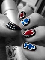 Lady Gaga pokerface-nails by May-Lynn