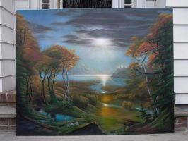 airbrush landscape by pincholo