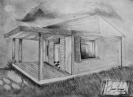 02 Architectural Drawing - Simple house. by Oscarliima