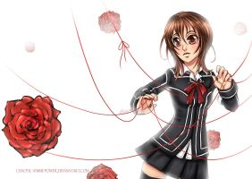 Vampire knight- Caught by the rose by Chao-Illustrations