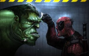 hulk vs pool by saadirfan